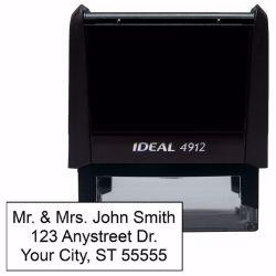 Custom name and address stamps